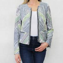 Gerry Weber Day Dream Multi Pattern Design Zip Jacket