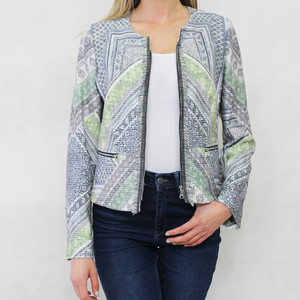 Gerry Weber Day Dream Multi Pattern Design Zip Jacket