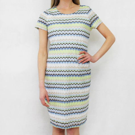 Gerry Weber Day Dream Zig Zag Pattern Round Neck Dress