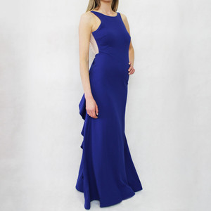 My Michelle Royal Blue Open Back Dress