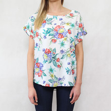 Zapara Off White Pastel Floral Print Light Top