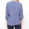 Twist Blue Anchor Pattern Blouse