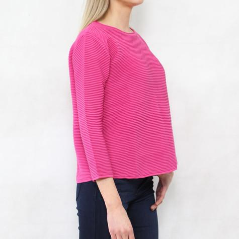 Twist Fushia Ripped 3/4 Sleeve Knit