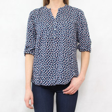 Twist Star Design 3 Button Blouse