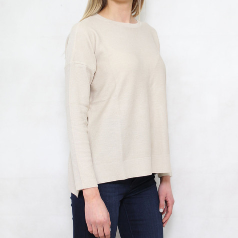 SophieB Gold Round Neck Light Knit