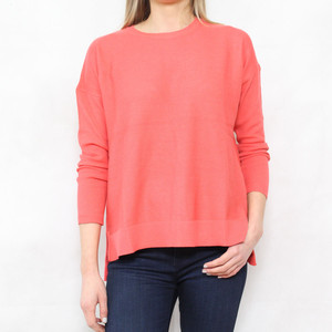 SophieB Coral Round Neck Light Knit