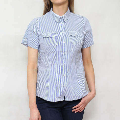 Twist Blue Stripe Short Sleeve Shirt