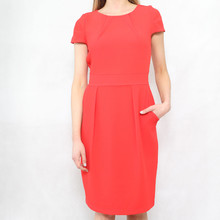Zapara Red Crepe Swing Dress