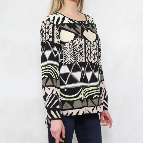 Bianca Black & Beige Pattern Top
