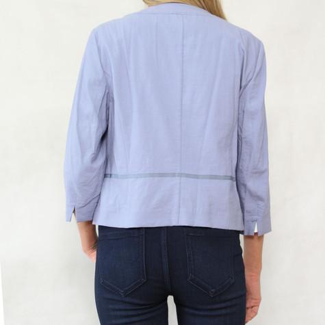 Bianca Blue Linen Two Button Jacket