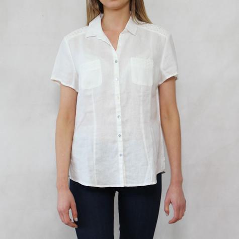Bianca Cream Linen Button Up Shirt