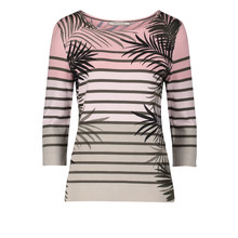 Betty Barclay Beige Strip Palm Print Top