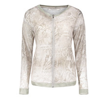 Betty Barclay Beige Zip Up Light Pattern Top