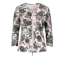Betty Barclay Light Rib Floral Print Zip Up Top