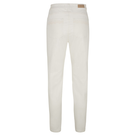 Olsen TROUSERS MONA SLIM - OFF WHITE