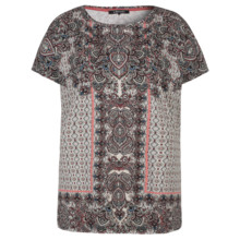 Olsen T-SHIRT COTTON MODAL MIXTURE - TERRA RED