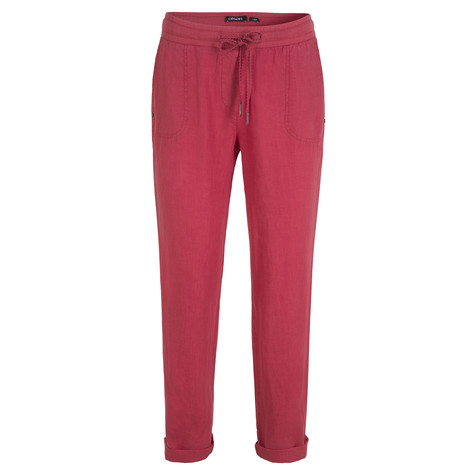Olsen LINEN TROUSERS LISA - TERRA RED