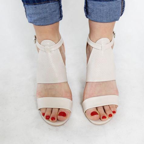 Pinkai Beige Strap Heel