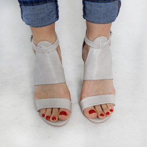 Pinkai Grey Strap Heel