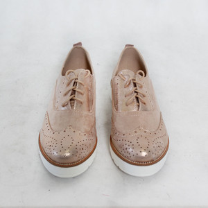Sixth Sen Rose Metallic Brogues