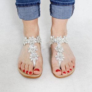 Tony & Co. Diamante Toe Post Sandal