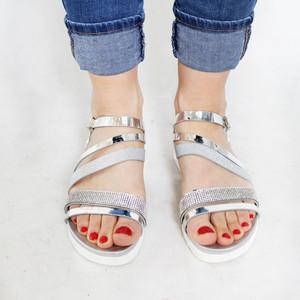 Sandara Silver Strap Detail Sandal