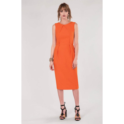 Closet Orange Sleeveless Pencil Dress