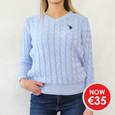Twist Sky Blue V-Neck Knit  - NOW €35