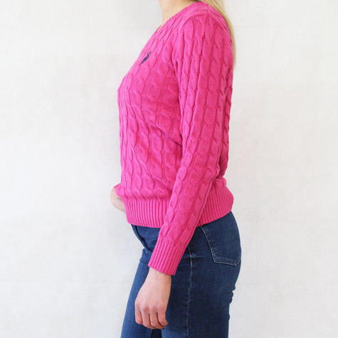 Twist Fushia V-Neck Knit - NOW €30 -