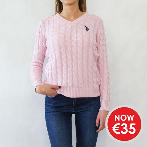 Twist Rose V-Neck Knit - NOW €35 -