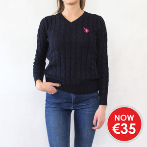 Twist Navy V-Neck Knit - ONLY €35 -
