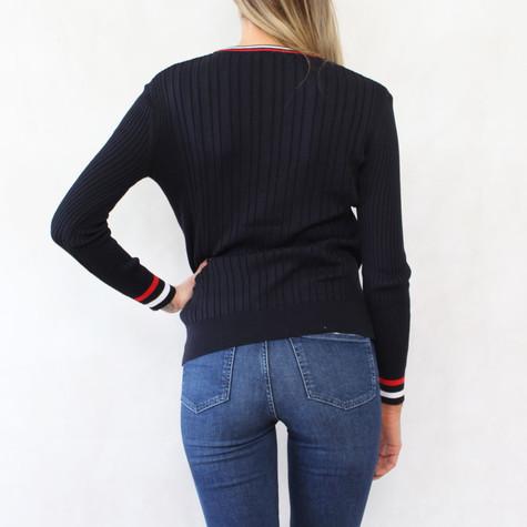 Twist Navy & Red V-Neck Knit - NOW €30 -