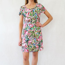 Ronni Nicole Multi-Colour Round Neck Dress