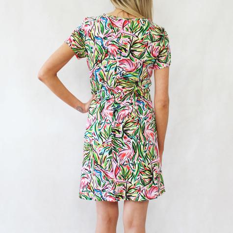 Ronni Nicole Multi-Colour Round Neck Dress