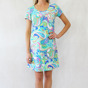Ronni Nicole Pale Yellow & Pink Multi-Colour Round Neck Dress