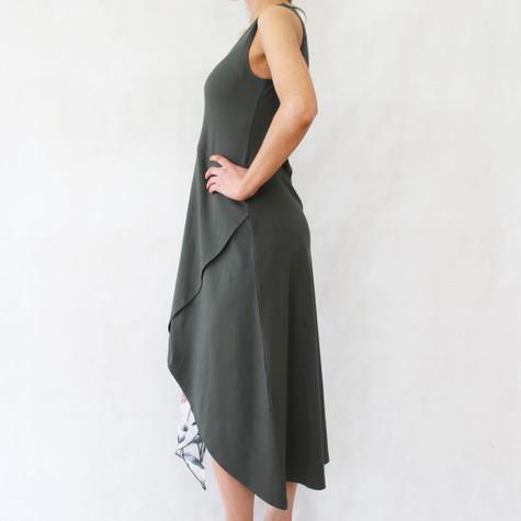 SophieB Khaki Long Sleeveless Dress