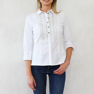 Tinta Style White Silver Trim Shirt