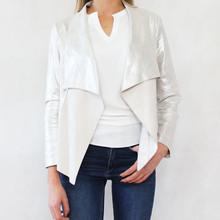 SophieB Silver Open Drape Jacket