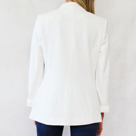 Zapara Off White One Button Jacket