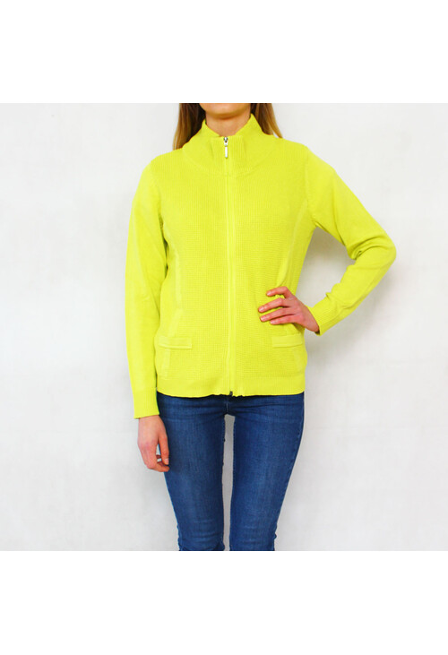 Twist Citrus Zip Up Knit