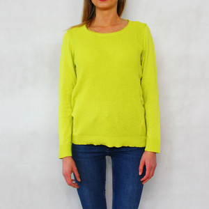 Twist Citrus 3/4 Sleeve Knit