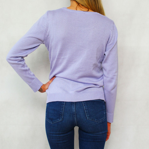 Twist Lilac 3/4 Sleeve Knit