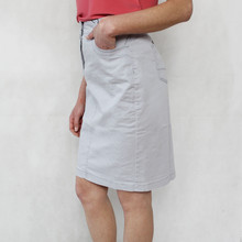 Bianca Beige Two Button Skirt