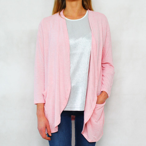 Twist Rose Drape Open Light Knit