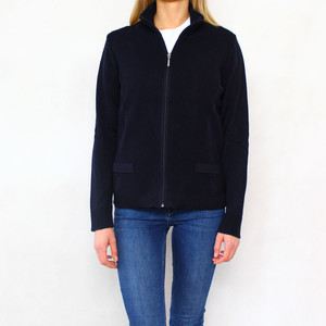 Twist New Navy Zip Up Knits