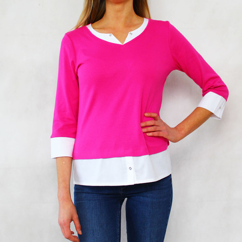 Twist White & Fushia 2 in 1 Top
