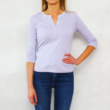 Twist Lilac Diamante Detail Open Neck Top