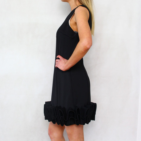 Donna Ricco Black Cupcake Sleeveless Dress