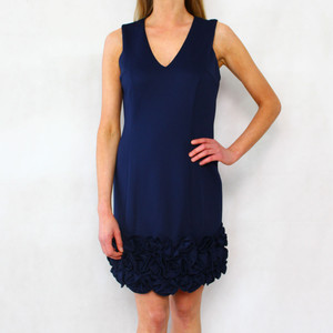 Donna Ricco Navy Cupcake Sleeveless Dress