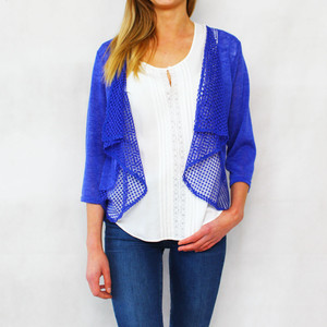 SophieB Royal Blue Open Light Knit